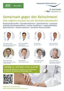 """Bochumer Rückentag 2020 – Thema: """"Gemeinsam gegen den Beinschmerz"""" – 20.06.2020"""
