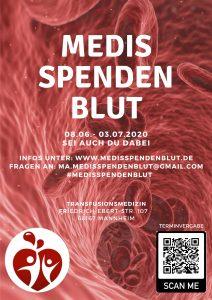 Medis Spenden Blut – ab dem 08.06.2020