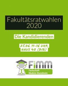 Hochschulwahlen 2020: Wahl des Senats und des Fakultätrates diesen Do, 25.06.