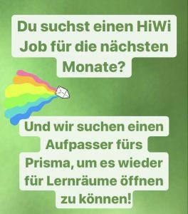 HiWi fürs Prisma gesucht!