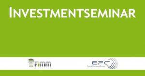EFC Investmentseminar