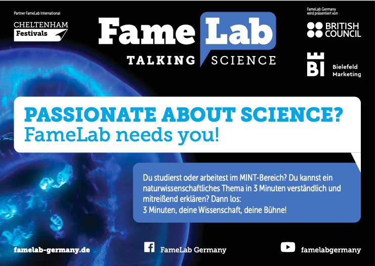 FameLab – DER internationale Wettbewerb für Wissenschaftskommunikation