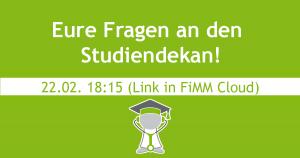 Read more about the article Am Montag besucht unser Studiendekan eine Fachschaftssitzung – kommt vorbei!