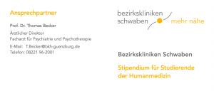 Stipendium für Studierende der Humanmedizin an den Bezirkskliniken Schwaben
